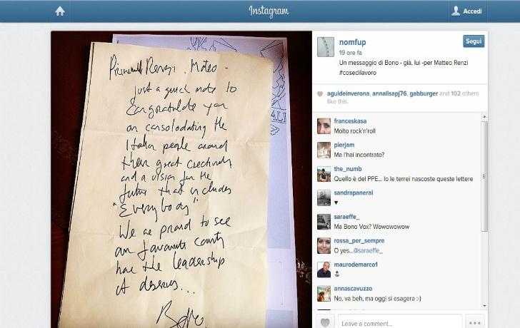 matteo renzi instagram twitter social