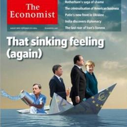 economist copertina raffigura Renzi  con un gelato in mano