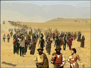 Iran, donne e bimbi yazidi in fuga dal massacro affrontano fame e disidratazione.