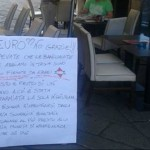 cartello contro ebrei genova