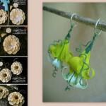 orecchini origami nuova tendenza estate autunno 2014 eco green