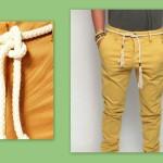must have uomo estate 2014, pantaloni lino con cintura di corda