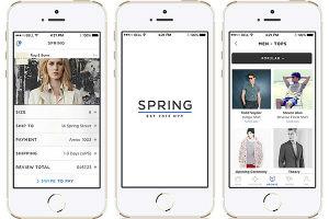 Spring app per shopping mobile on-line simile Instagram