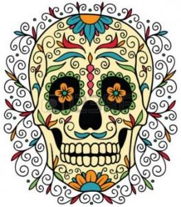teschio sorridente tatuaggio
