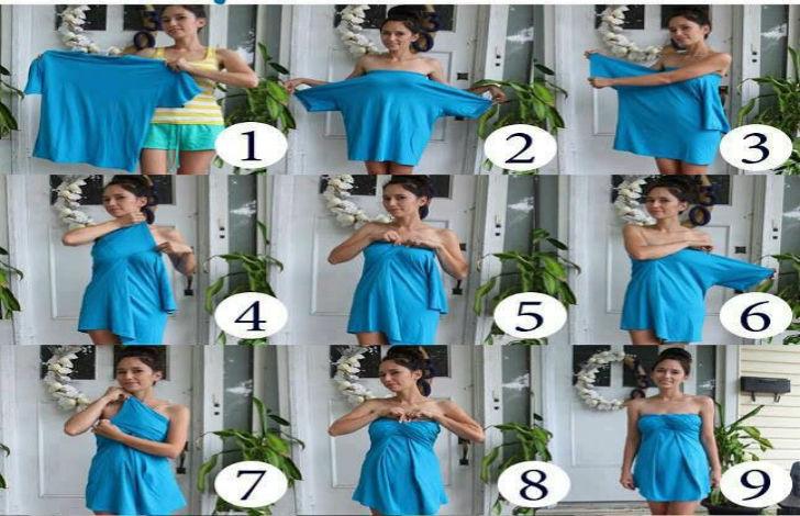 Popolare Come creare un vestito da sera con una t-shirt in 3 mosse - UrbanPost OE48