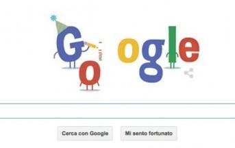 Doodle di Google di oggi: buon compleanno a Google per i suoi 16 anni