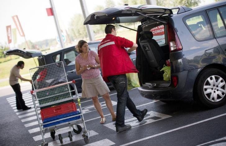 e-commerce Click e collect per acquistare prodotti alimentari