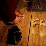 Impronte monaco buddista