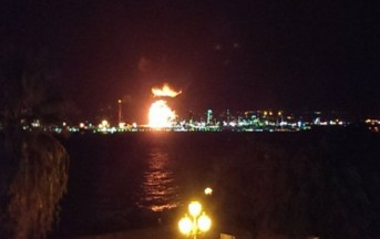 Milazzo: un'incendio alla Raffineria Mediterranea manda nel panico l'intera costa tirrenica