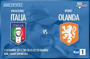 Italia - Olanda su Rai1