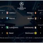 UEFA Champions League squadre in campo