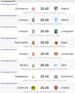 UEFA Champions League 2014/2015