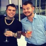 Alessandro Cattelan e Fedez alla conferenza stampa di X Factor 8