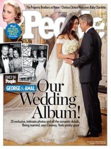 George Clooney le foto del matrimonio vendute per beneficenza