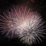 cenere dei defunti nei fuochi d'artificio