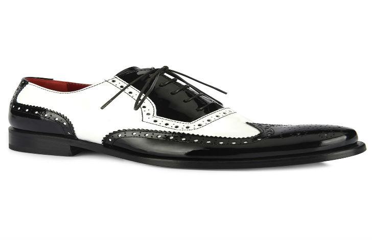 Tendenze uomo autunno 2014 le scarpe bicolor black - Pagine a colori in bianco e nero ...