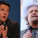 Matteo Renzi attaccato da Beppe Grillo