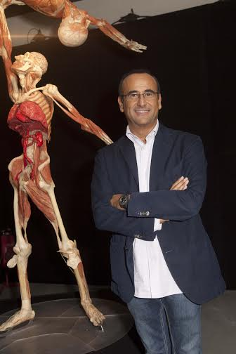Carlo Conti vernissage Body Worlds 2014