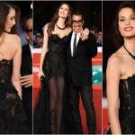 Dayane mello e Guillemo Mariotto sul red carpet al Festival film di Roma