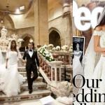 Elisabetta Canalis Amal Alamuddin abito sposa confronto