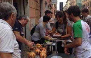 Genova ragazzi in soccorso alla popolazione