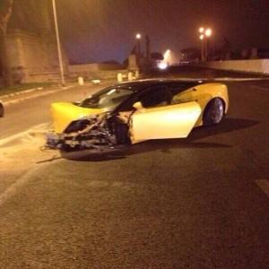 Keita Lamborghini distrutta