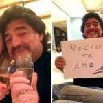 Maradona video aggressione alla compagna