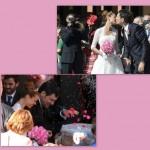 Matrimonio Fabrizio Frizzi e Carlotta Mantovan 4 ottobre 2014, abito sposi