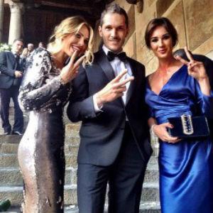 look degli invitati matrimonio Hunziker Trussardi look Silvia Toffanin e Ilary Blasi