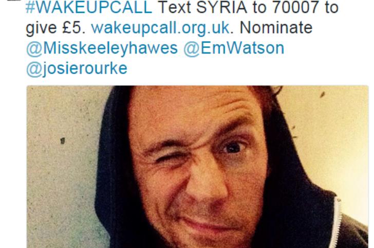 Tom Hiddleston campagna social pro-Siria 2014