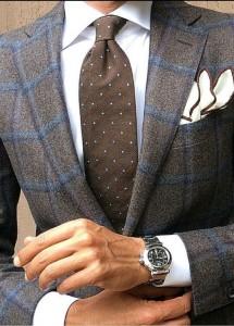 Tendenze autunno 2014 consigli look uomo abito marrone e accessori