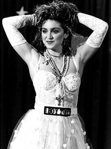 Madonna interpretata da suor Cristina