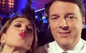 Matteo Renzi e Barbara D'Urso