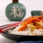 Ristorante cinese pietanze con oppio