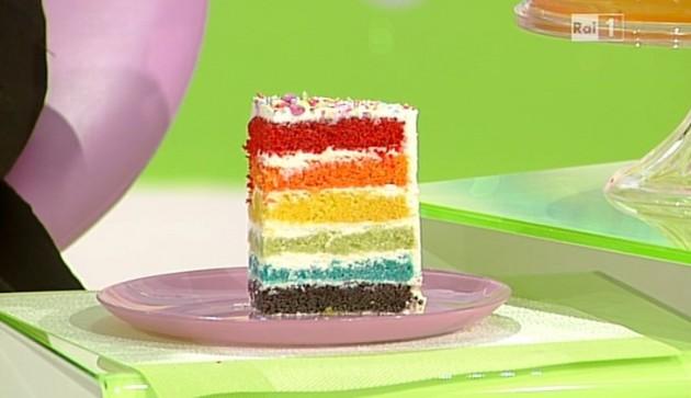 Ricette dolci dopo il tigg la torta arcobaleno di ambra for Dolci tradizionali romani