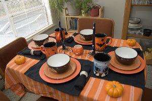 come decorare tavola di Halloween