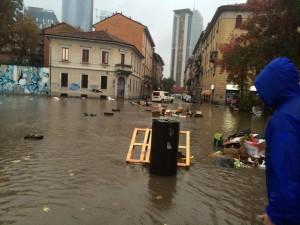 Milano allagata