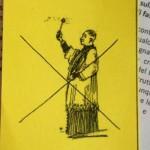 Cartellino anti-benedizione proposto dal parroco