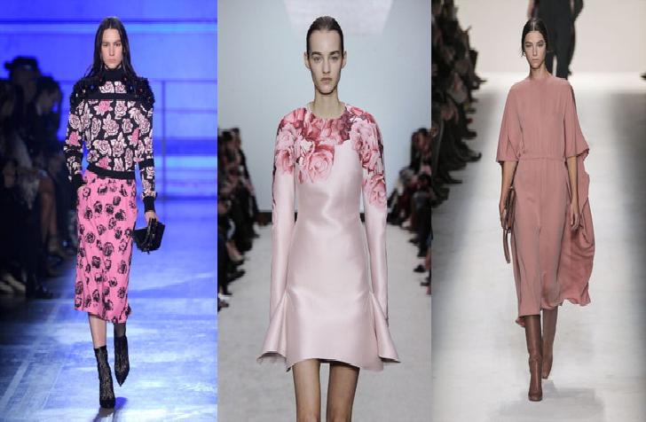 Moda autunno 2014- inverno 2015  rosa colore tendenza dc157186d9ab
