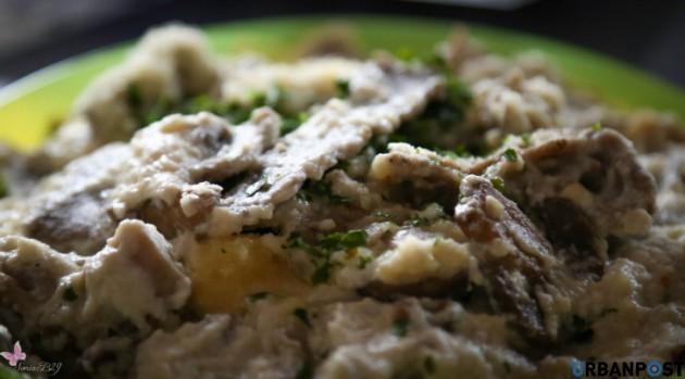 Pasta grano saraceno funghi