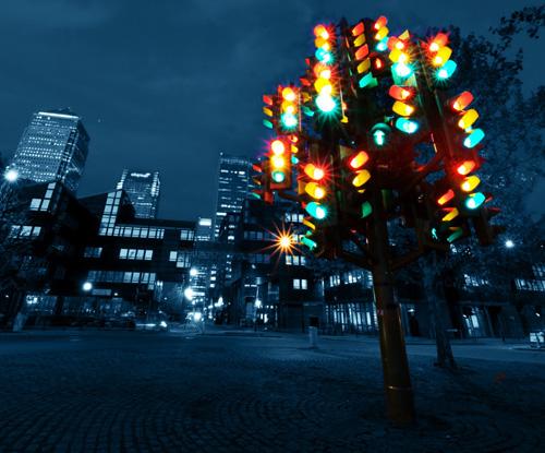albero natale semaforo