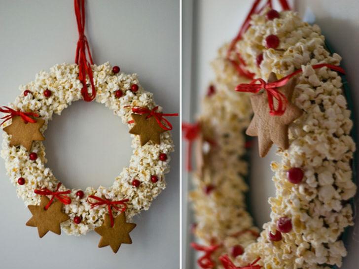 Natale 2014 addobbi natalizi low cost e fai da te ghirlanda da appendere urbanpost - Addobbi natalizi per la porta ...