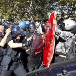 scontri centri sociali polizia