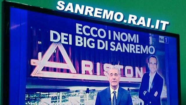 Ecco la lista dei 20 Big di Sanremo 2015