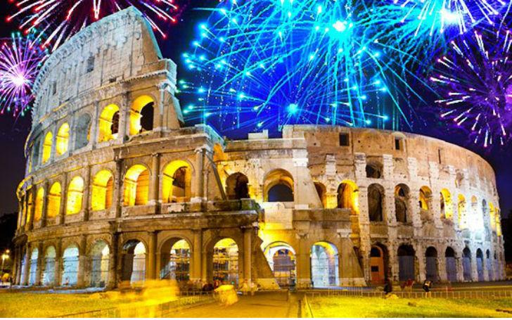 Capodanno Roma 2015 Colosseo illuminato