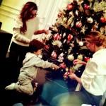 Claudia Galanti foto albero Natale dopo la morte della figlia