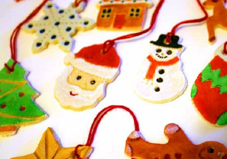 Addobbi natalizi 2015 decorazioni fai da te con la for Decorazioni natalizie con la pasta