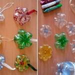 come fare stelle di ghiaccio di natale con fondai bottiglie plastic