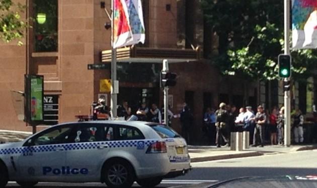 La zona del'agguato a Sydney presidiata dalla polizia