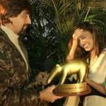 belen riceve un altro tapiro d'oro